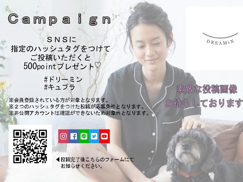 SNS Campaign 実施中!!
